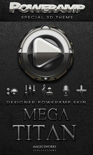 Poweramp skin Mega Titan