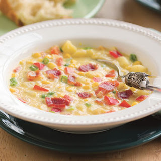 Corn and Bell Pepper Chowder.