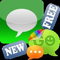 GO SMS Pro iPhone Style Theme logo