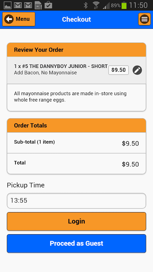 Dannyboys Online Ordering- screenshot