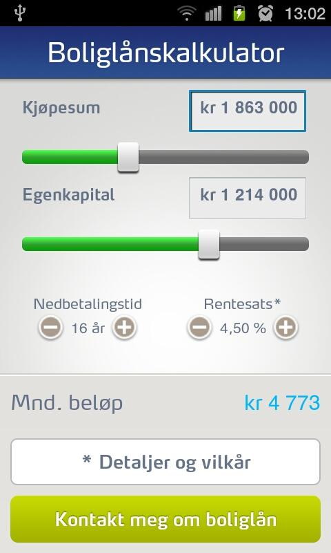 SpareBank 1 Mobile Banking - screenshot