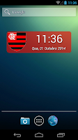 Screenshot of Digital Clock Flamengo