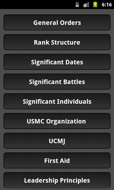 Marine Corps Poolee Knowledge - screenshot