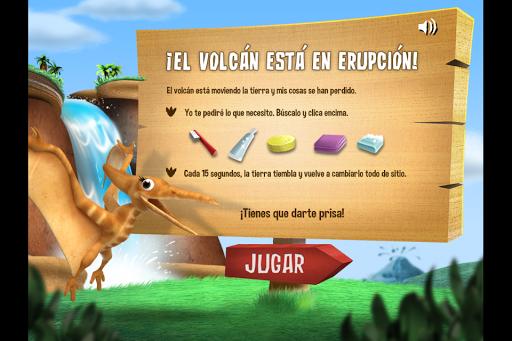 El volcán Dinosaurus