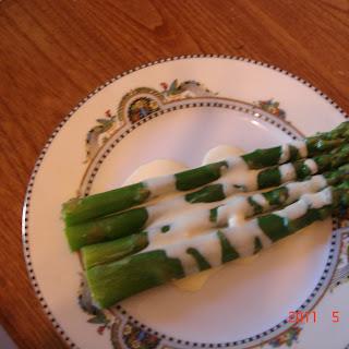 Oven Roasted Asparagus with Mascarpone Hollandaise