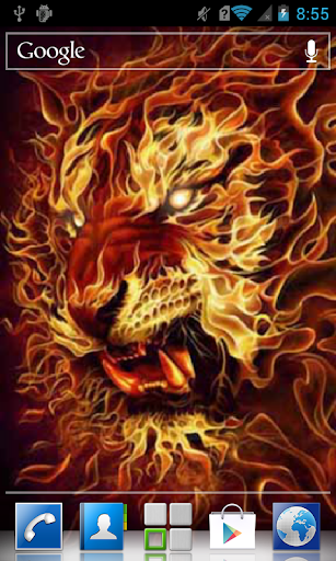 Lion out of flames LWP