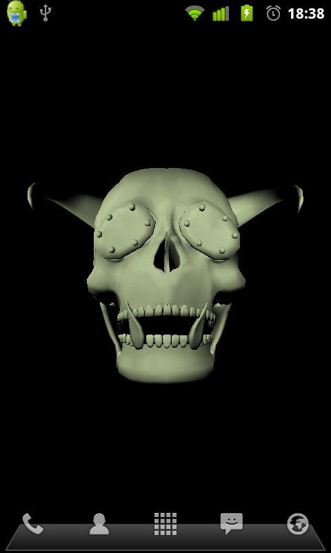 ... 3D Skulls Live Wallpaper ...