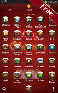 Merry Christmas Go Launcher - screenshot thumbnail