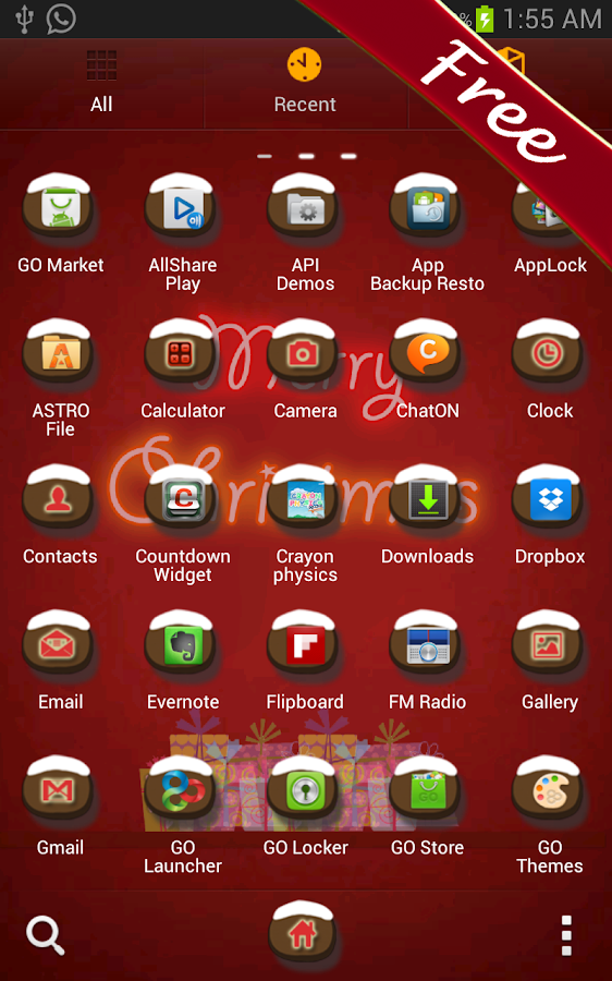 Merry Christmas Go Launcher - screenshot