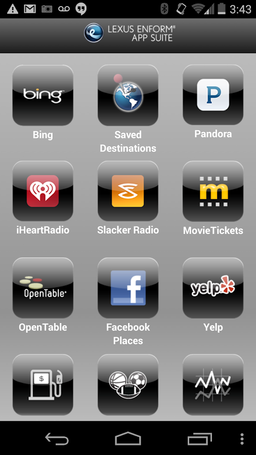 Lexus Enform App Suite - screenshot