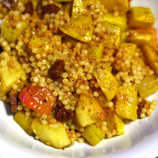 Couscous With Roasted Butternut Squash, Apple, and Chorizo