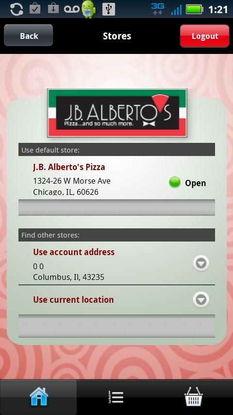 J.B.Alberto's Pizza- screenshot