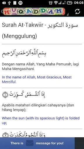 Muqaddam dan Terjemahannya
