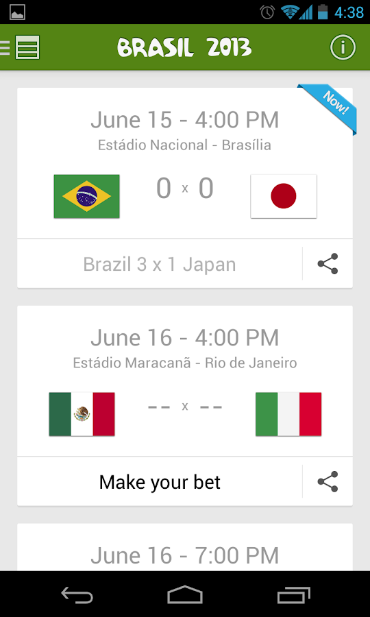 Confederations Cup Brazil 2013 - screenshot