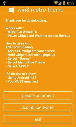 GOWidget - Win8 Orange Theme