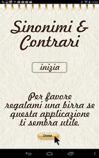 Sinonimi e Contrari- screenshot thumbnail