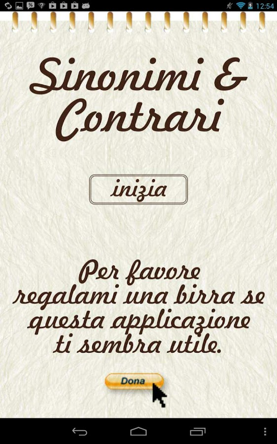 Sinonimi e Contrari - screenshot