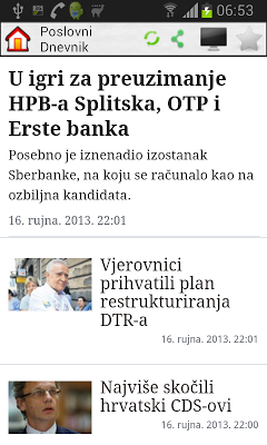 Hrvatske Novine - screenshot