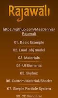 Screenshot of Rajawali 3D Engine Examples