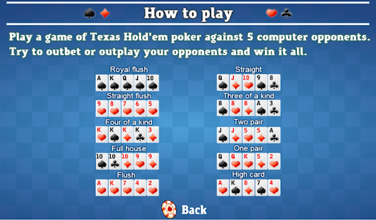 Play poker against the computer