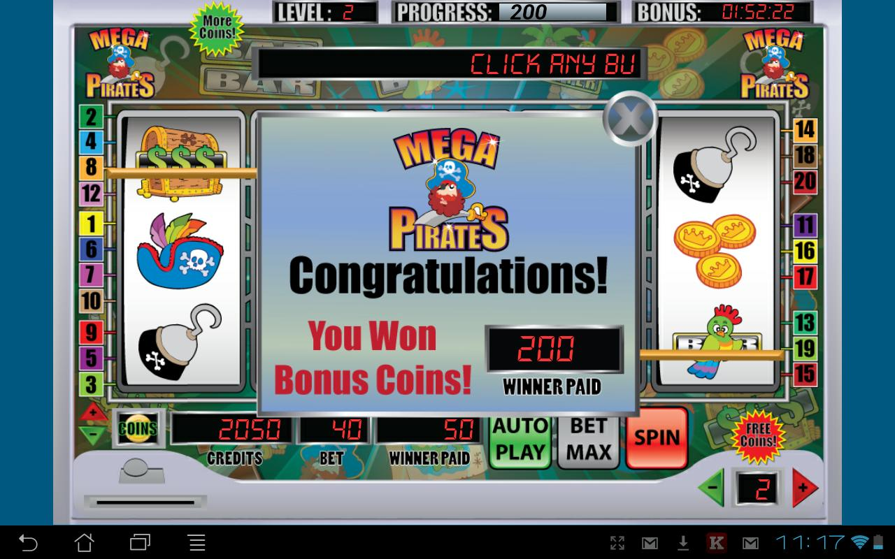 Mega Pirates Slot Machine- screenshot