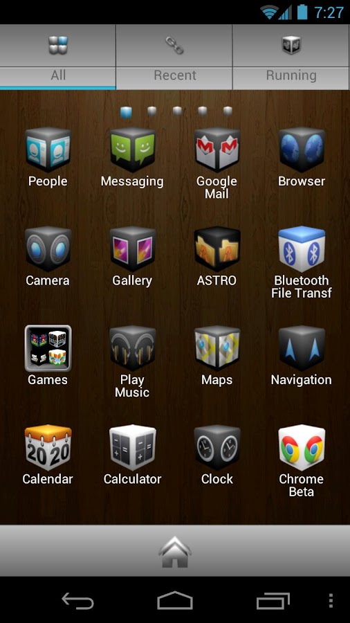 Cube Theme 4 Go Launcher Ex - screenshot