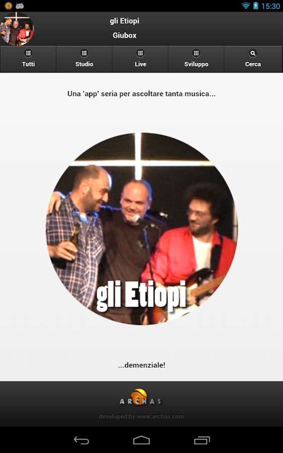 gli Etiopi Giubox- screenshot