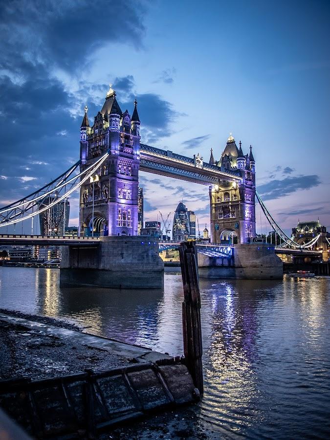 'Blue' Tower Bridge by Ozlem Mehmet - Buildings & Architecture Bridges & Suspended Structures ( colour, london, blue, tower bridge, night, bridge, dusk )