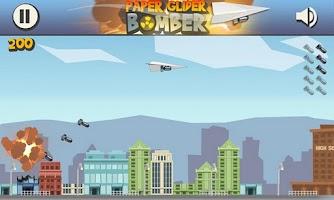 Screenshot of Paper Glider Bomber