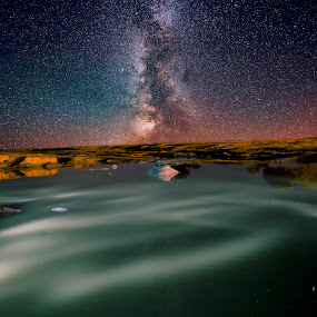 Way to Heaven by Ashish Garg - Landscapes Starscapes ( star trails, landscape, milky way )