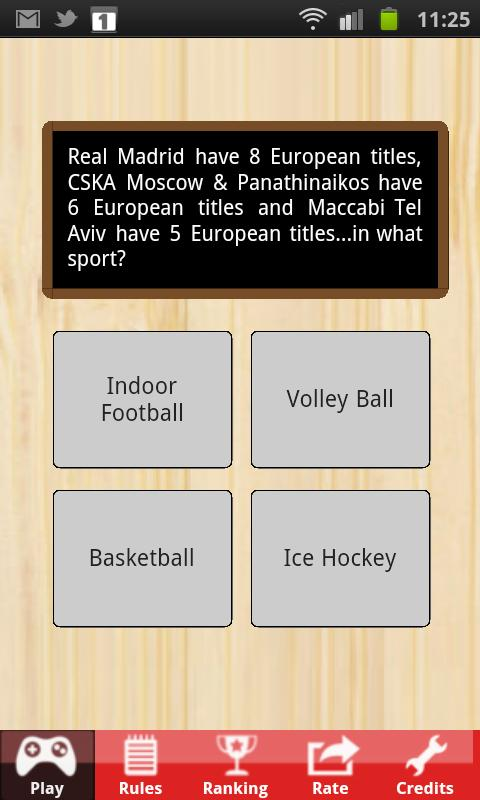 Sports Quiz- screenshot