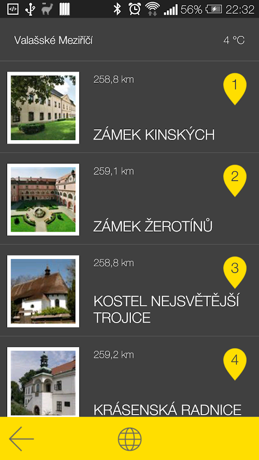 Valašské Meziříčí - audio tour- screenshot