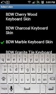 Marble Tile Keyboard Skin- screenshot thumbnail