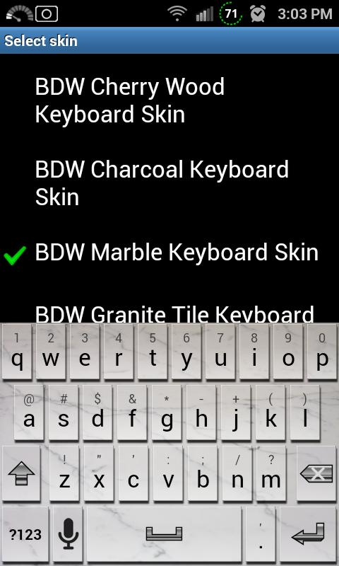 Marble Tile Keyboard Skin - screenshot