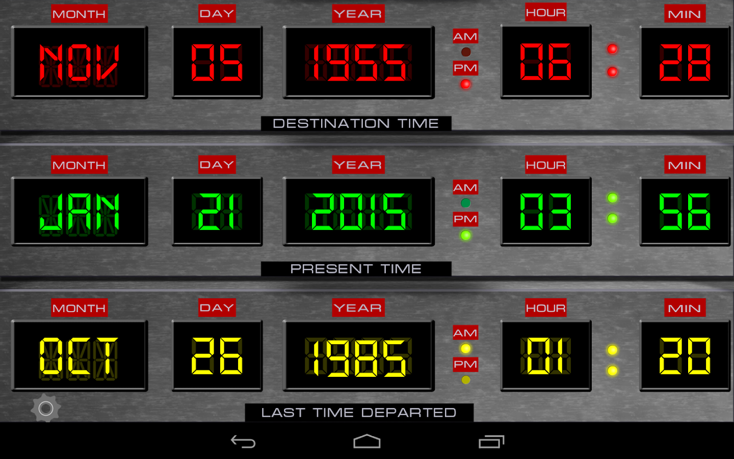 Time Circuits Dashboard Clock- screenshot