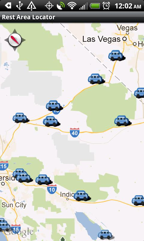 Rest Area Locator Android Apps On Google Play - Map of us rest stops