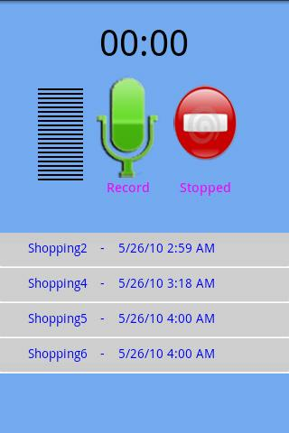 Quick Voice Recorder- screenshot