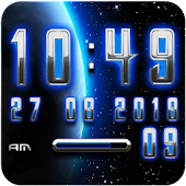 Earth Glow Digital Clock