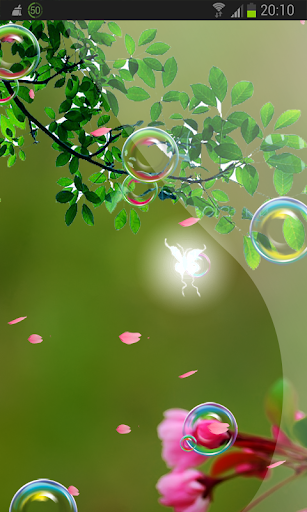 Pink Sakura Flow Bubbles HD