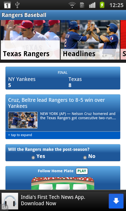 Baseball Texas - Rangers News- screenshot