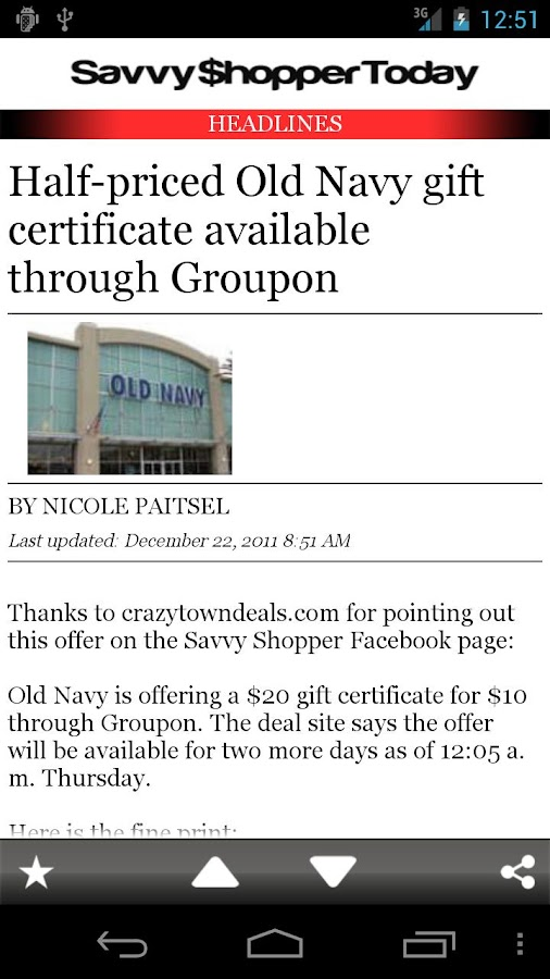 HR Savvy Shopper- screenshot