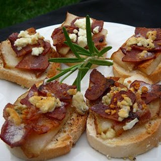 Blue Cheese, Bacon and Pear Brunch Sandwiches