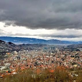Sarajevo from Above by Lejla Hadziabdic - Instagram & Mobile Other ( #sarajevo #city #view #hdr #clouds #bosnia )