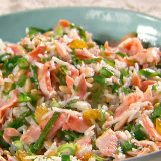Tangy-Sweet Salmon and Rice Salad.