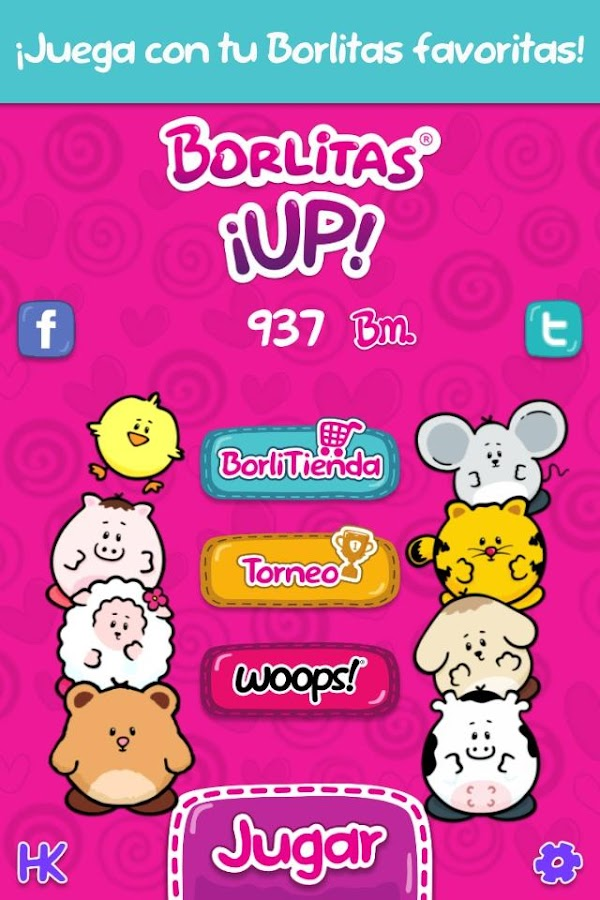 Borlitas ¡UP!: captura de pantalla