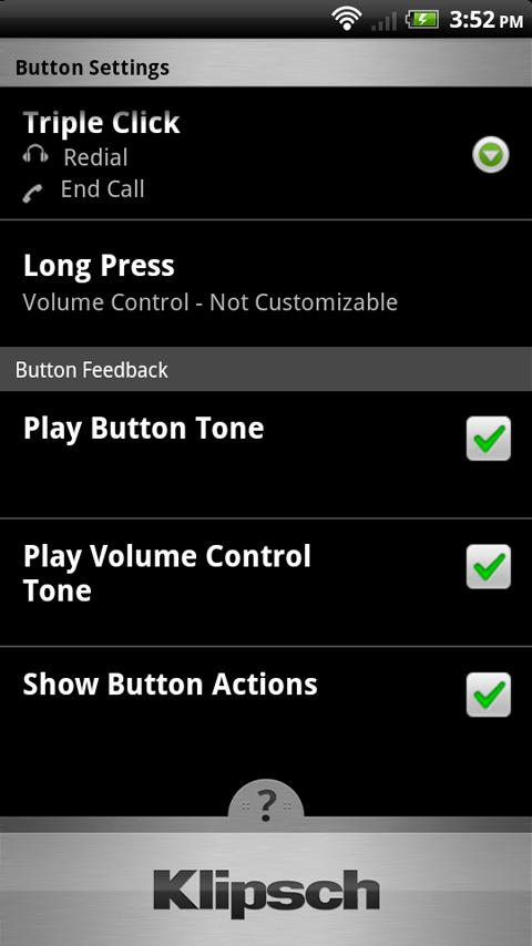 Klipsch Control- screenshot