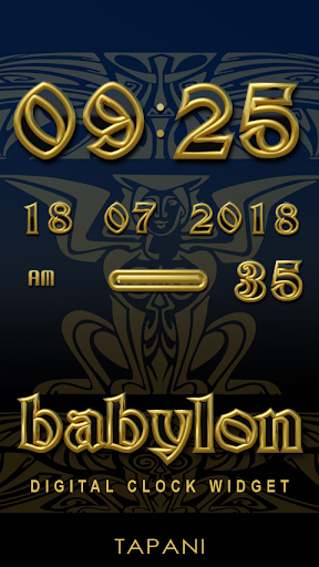 Babylon Digital Clock Widget