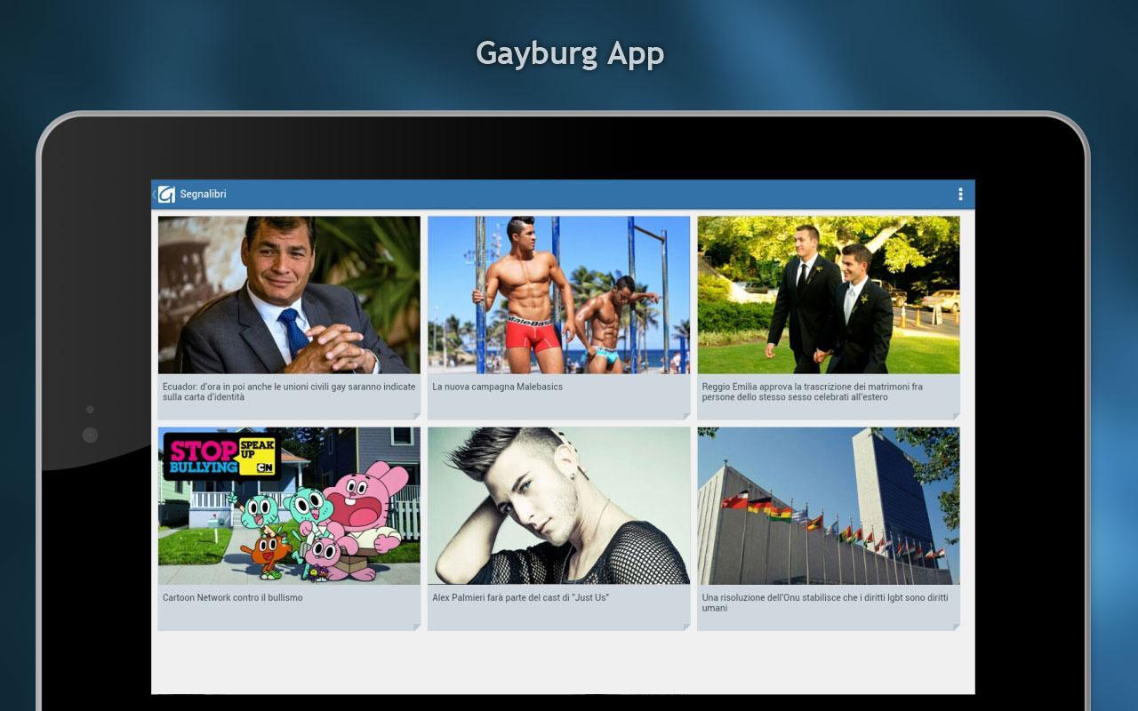 Gayburg: notizie dal mondo gay - screenshot