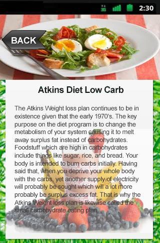 Atkins Diet Low Carb