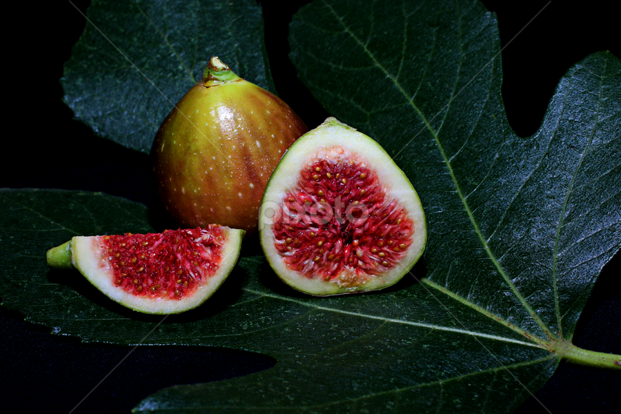 Figs from the garden by Martin Smith - Food & Drink Fruits & Vegetables ( fruit, tree, leaf, figs )